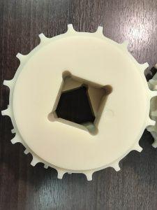 Звезда для ленты Holzer 1600 25.4 мм (Z16 d 130) отверстие квадрат 40x40