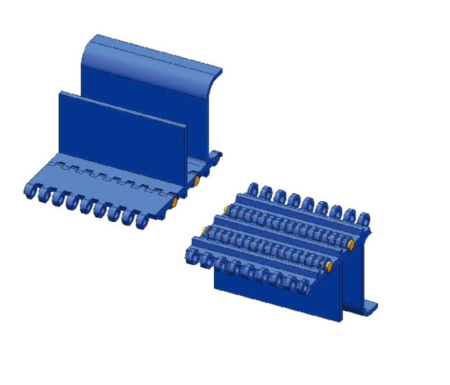 Модульная лента Holzer 800 Flat Top шаг 50.8 мм, толщина 16 мм, открытость 0%, PP, голубой цвет