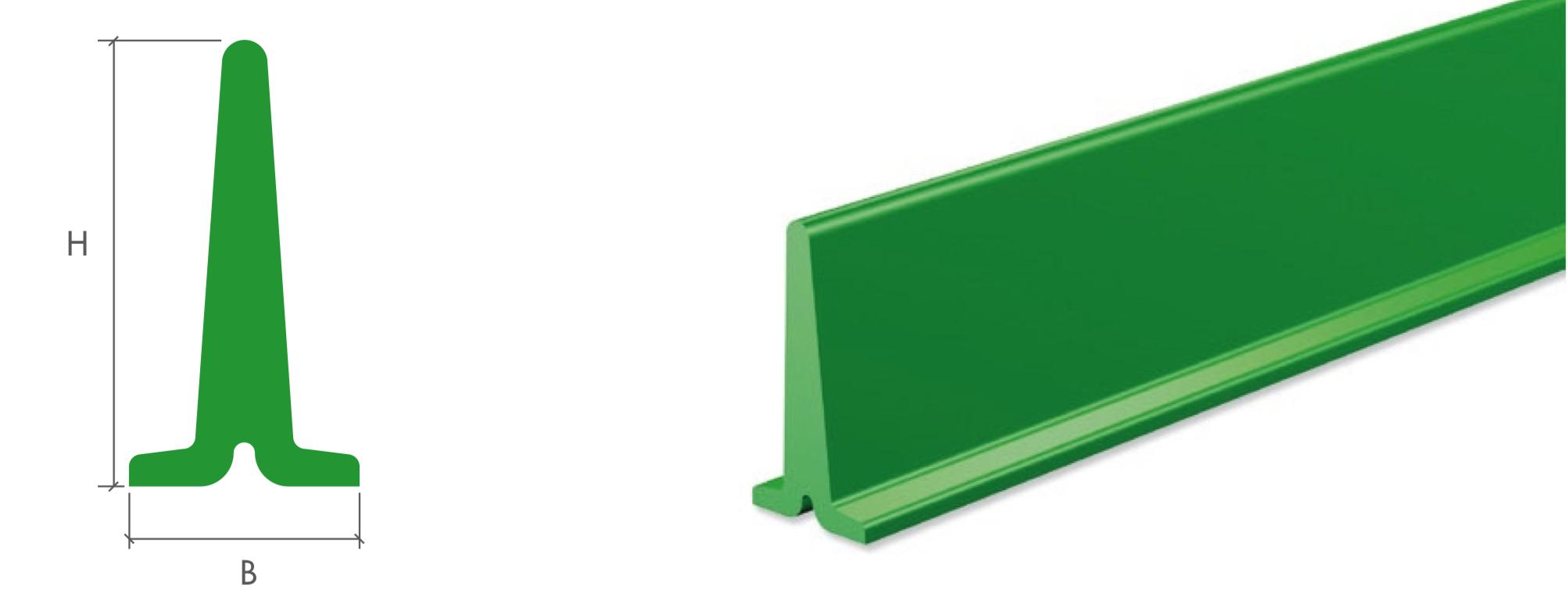 Поперечные профили для конвейерной ленты тип T