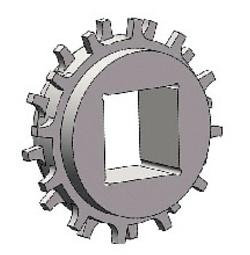 Звезда для ленты Holzer 2401 25.4 мм (Z15 d 122) отверстие квадрат 40x40