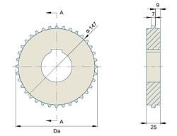 Звезда 7120 T38 Диаметр 153.7 мм, Круглое 40 мм